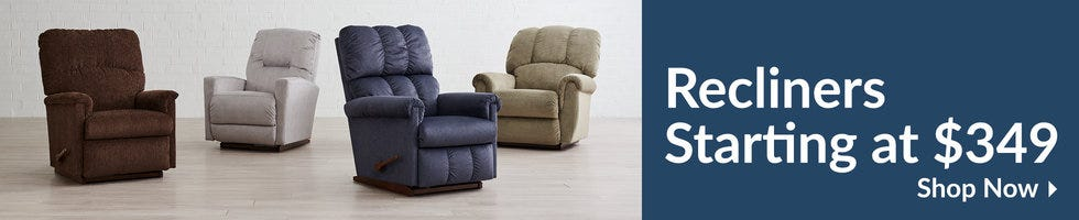 View Recliners starting at $349