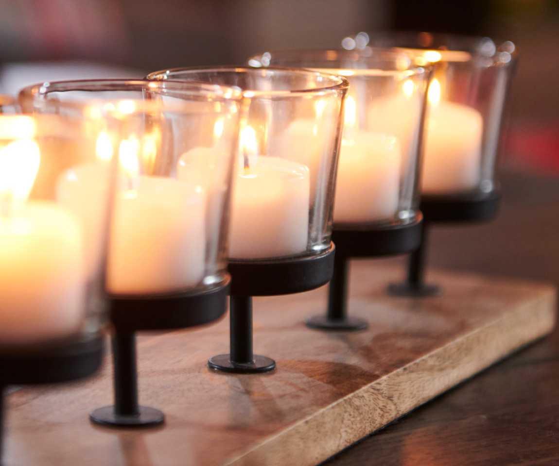 Closeup of candles