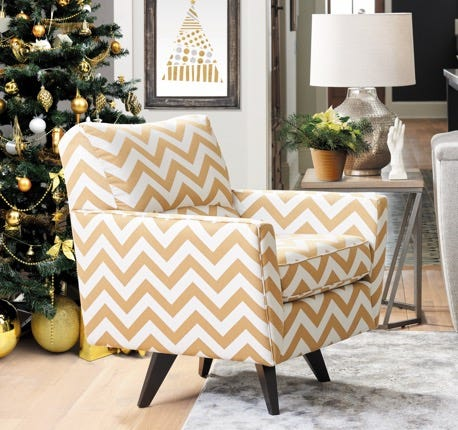 Christmas scene with Bellevue Swivel Chair
