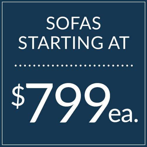 Sofas starting at $799!