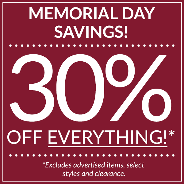 Save 30% off everything sitewide!